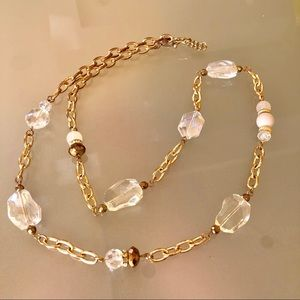 Jewelry - Chunky Gold and White Chain Necklace